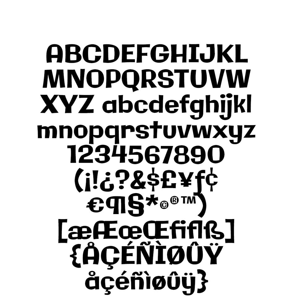 Galindo Pro sample character set