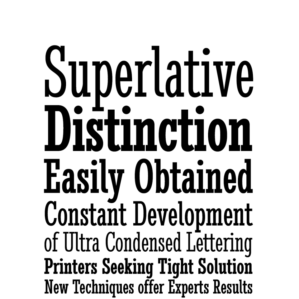 Stint Ultra Condensed Pro Family font waterfall 2