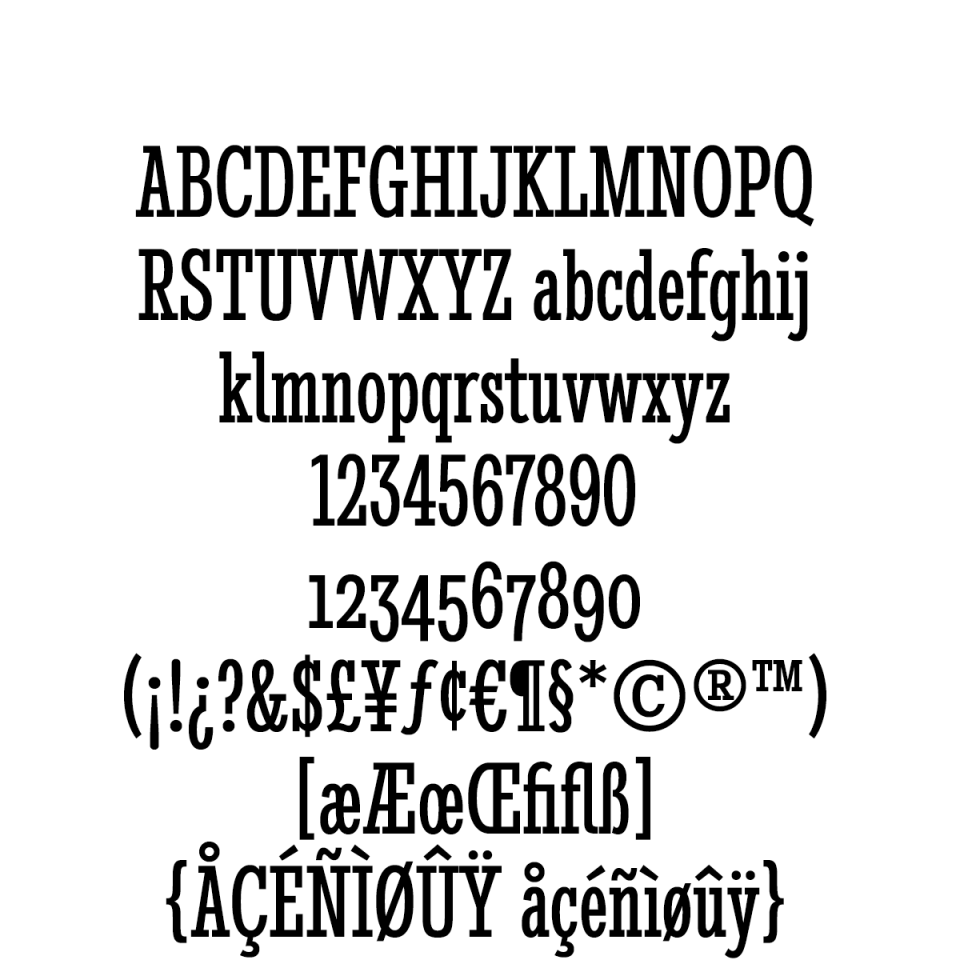 Stint Ultra Condensed Pro Regular sample character set