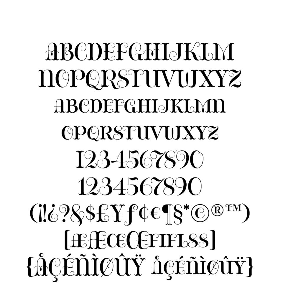 Bazaruto Regular sample character set