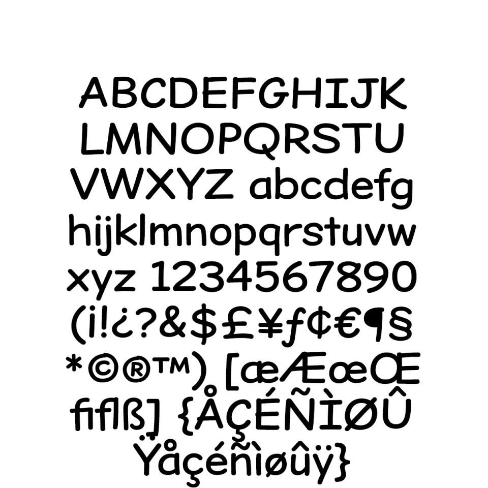 Dear Sans-Regular Character Set sample