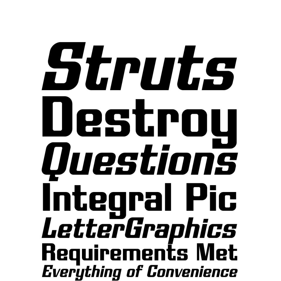 Modulate Family font waterfall 2