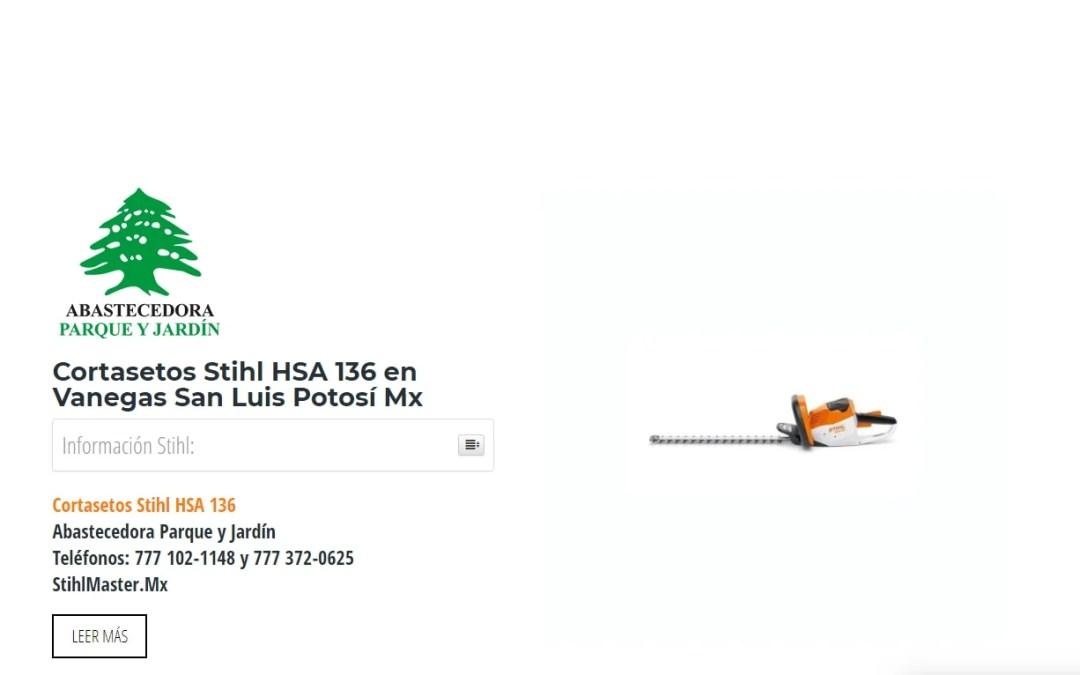 Cortasetos Stihl HSA 136 en Vanegas San Luis Potosí Mx