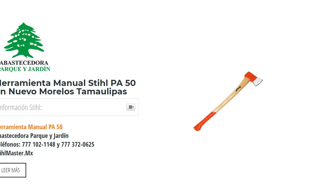 Herramienta Manual Stihl PA 50 en Nuevo Morelos Tamaulipas