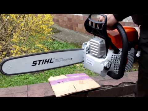 Chainsaw Stihl MS 311 first start and test