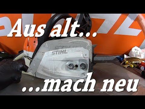 Stihl 261 Kettenraddeckel umrüsten  —  Aus alt mach neu