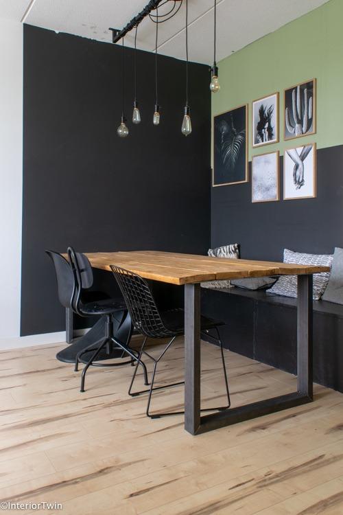 werkkamer met een industriële look in het interieur van blogger Ilse