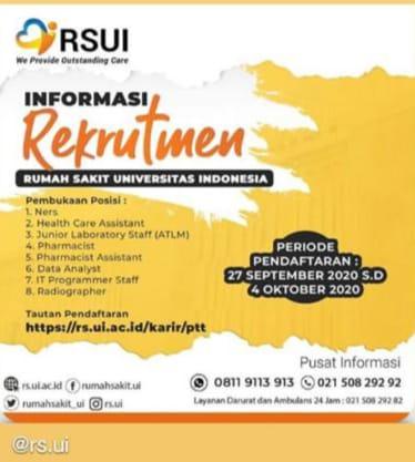 Informasi Rekrutmen Rumah Sakit Universitas Indonesia