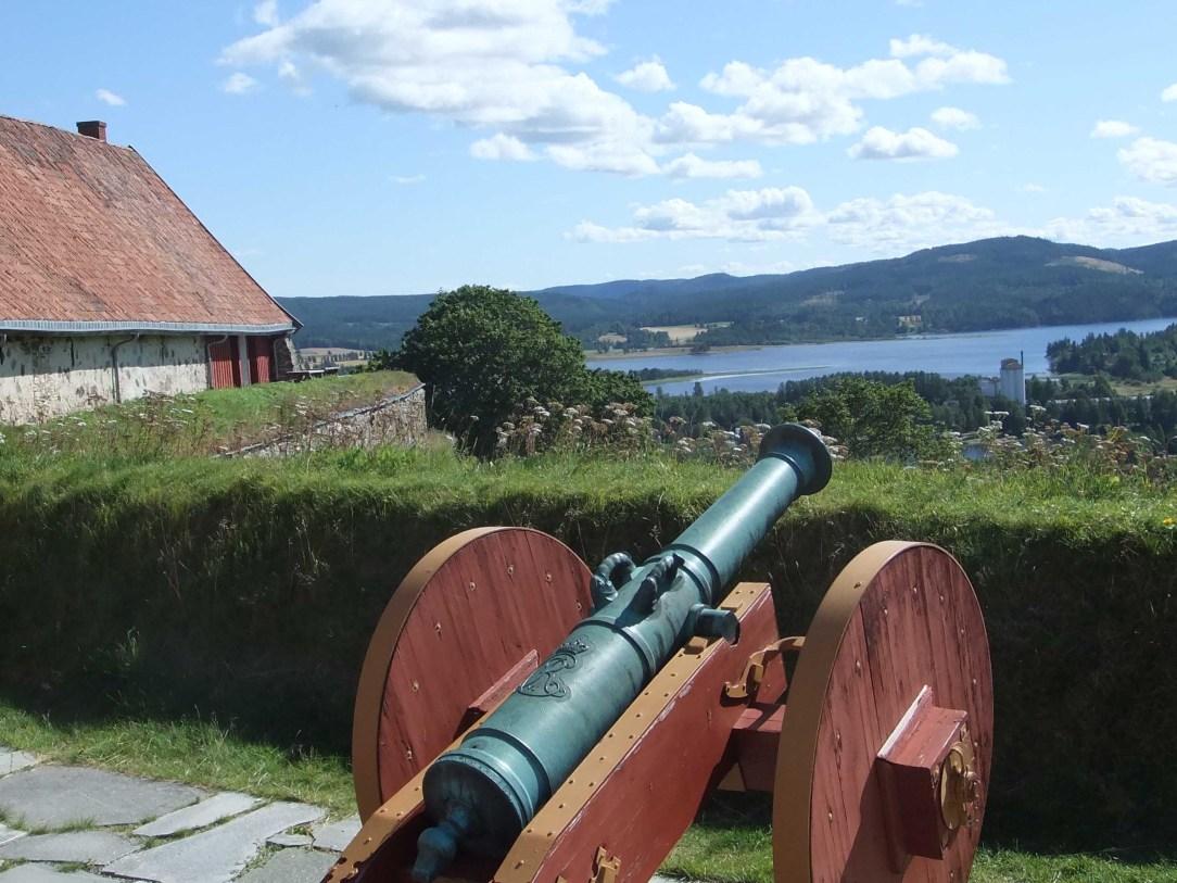 Gammel kanon på Kongsvinger festning