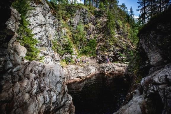 Dramatisk canyon i Løten, Korpreiret skapt på slutten av siste istid.
