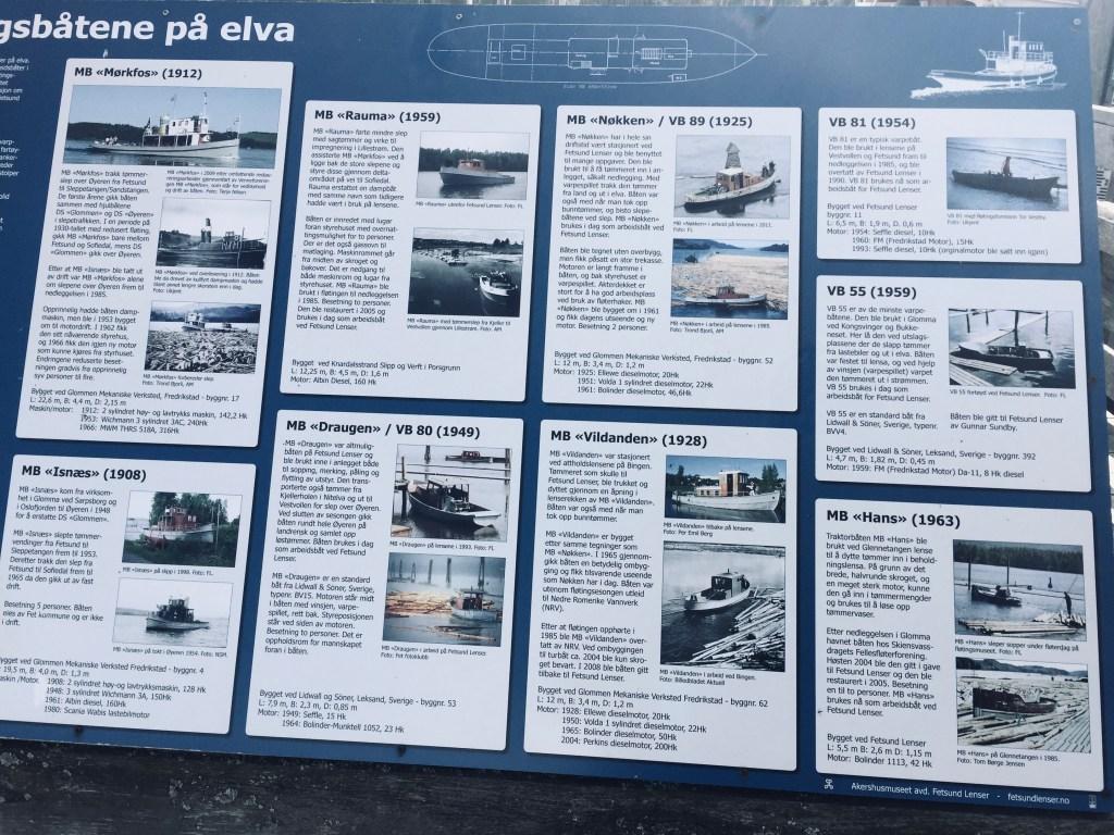Gamle fløterbåter plakater Fetsund lenser