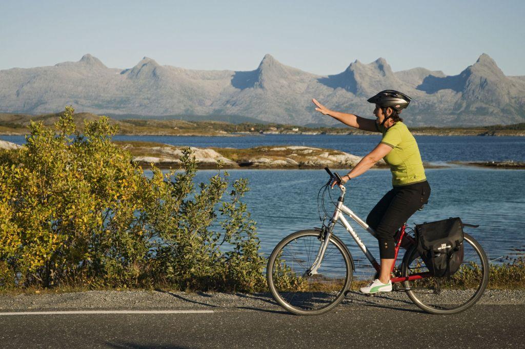 Sykkel Helgeland Kystriksvegen hjelm