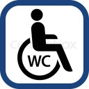 Handikap toalett symbol