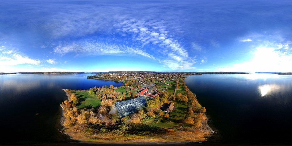 Domkirkeodden Hamar luftfoto