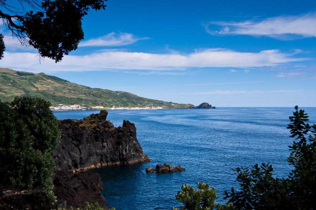 Kyst Azorene blått hav vandre
