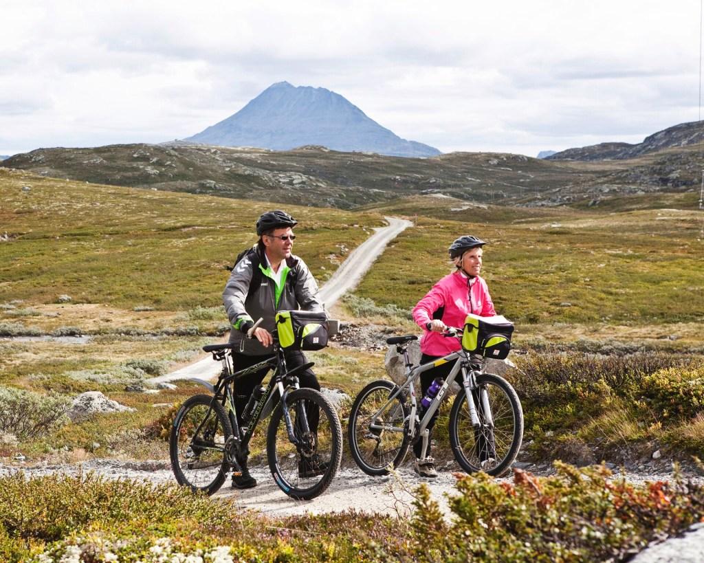 Par sykler på Hardangervidda