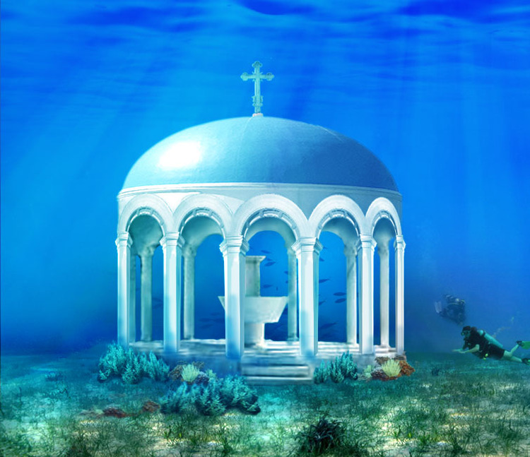 Venčanje pod vodom, Kipar / Underwater wedding chapel, Cyprus