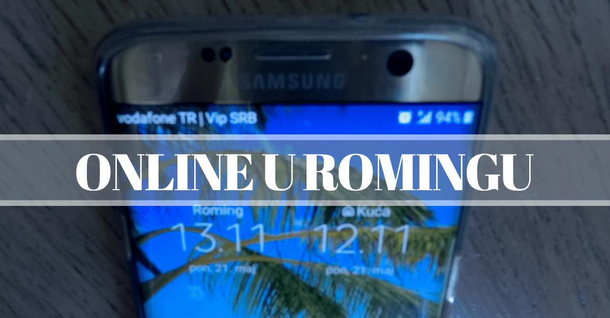 kako biti online u romingu