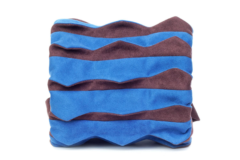 Stil-Stengel Textilkunst Tasche TROMMEL blau braun