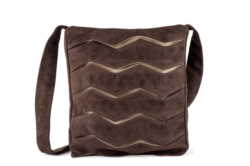 Stil-Stengel Textilkunst Tasche SLOPE braun beige
