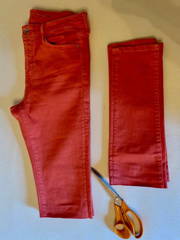 Skinny Jeans abschneiden