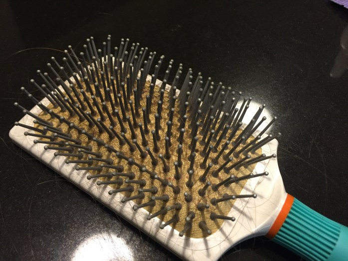 So gross. This is after one brush through!!!
