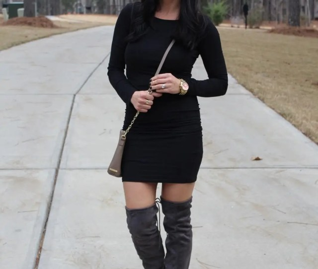 Girls Night Out Outfit Lbd Over The Knee Boots Stilettos And Diapers