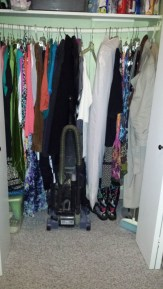 hall closet, holiday prep, cleaning
