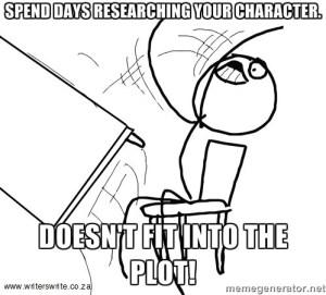 writing, character development, meme