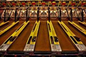 skee-ball, Paragon Park, Nantasket Beach, 4th of July, S. A. Young