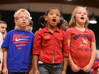 Green Valley Elementary School's Veterans Day Program 11/11/2015 -- Photo By: Frances Rogers