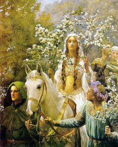 Guinevere, John Maler Collier, Pre-Raphaelites, May Day, Monday, blogging, S.A. Young