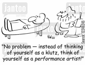 Baloo, klutz, Monday, blogging, SA Young, cartoon