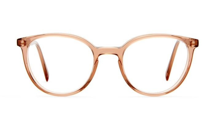 zarte Brille in Oval aus Acetat in Rose von VIU Eyewear