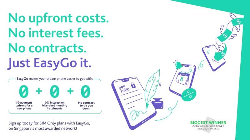 Geen kosten vooraf, rente, contract: met EasyGo van StarHub kunt u gemakkelijk uw droomtelefoon krijgen