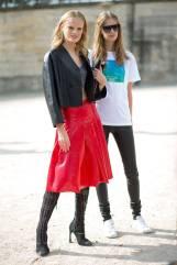 Hanne Gaby Odiele (left)