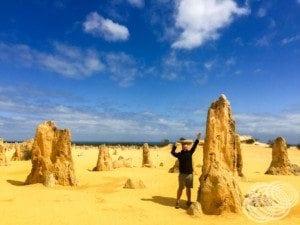 Matt at the Pinnacles - Cervantes