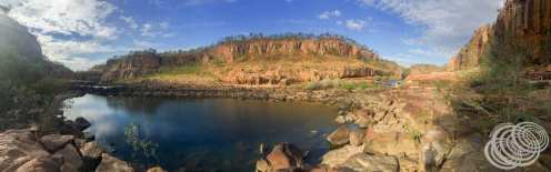 Panorama between gorges 1 & 2 at Nitmiluk (Katherine) Gorge
