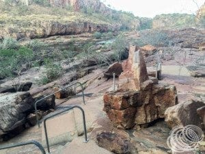 Parts of the path between gorge 1 and 2 at Nitmiluk (Katherine) Gorge