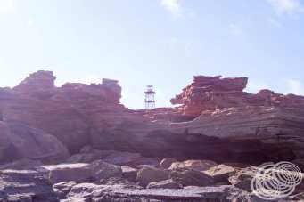 The lighthouse at Gantheume Point