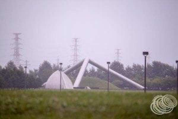 Tetra Mound and the Music Shell at Moerenuma Park