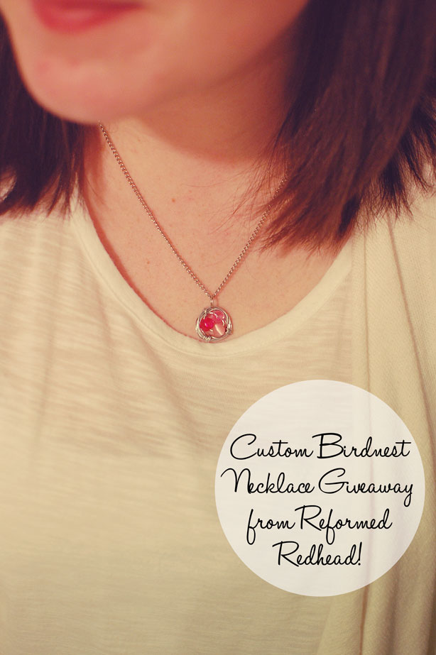 still being molly: customized birdnest necklace giveaway from Reformed Redhead