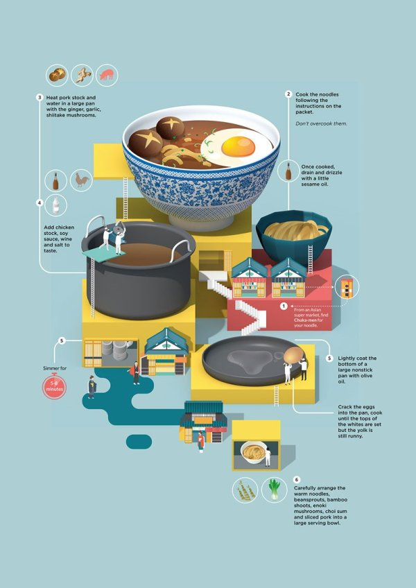 Illustrated Recipe Cards by Jing Zhang