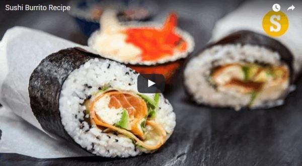Giant Burrito-Sized Sushi Roll