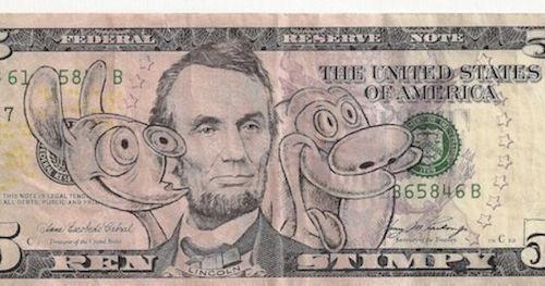 Defaced Dollar Bills