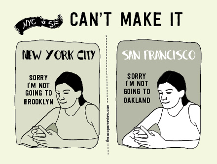Funny Illustrations Show the Differences Between New York and San Francisco