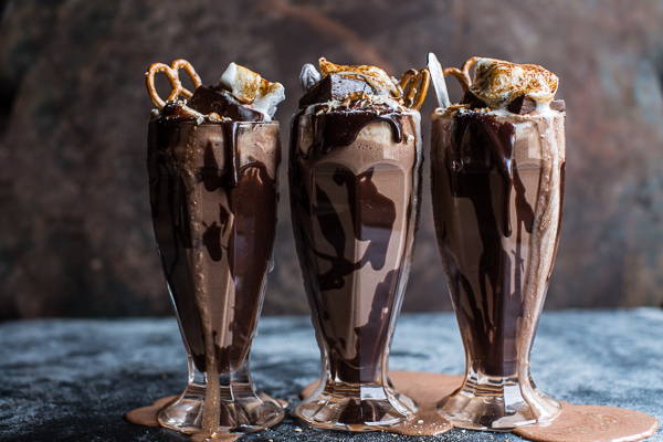 Nutella Chocolate Milk Shake