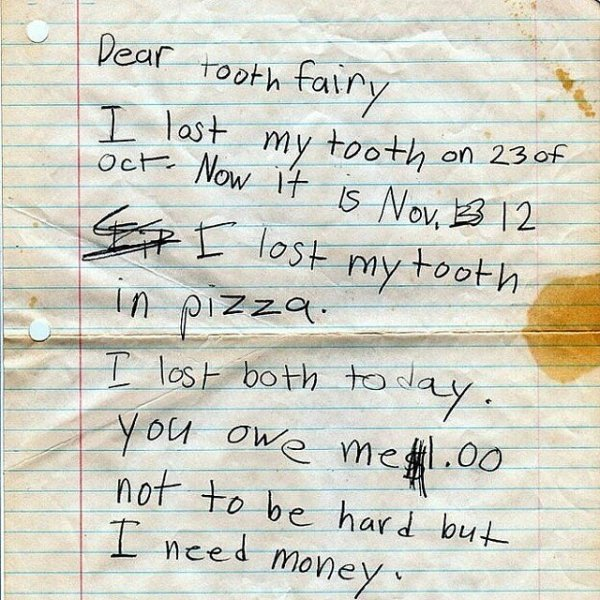 Best Notes For The Tooth Fairy