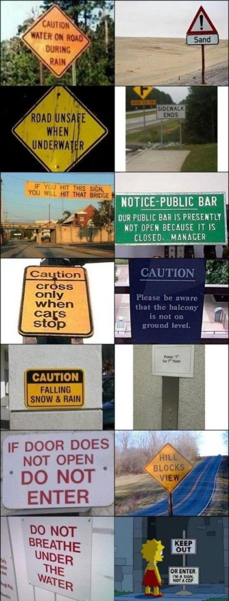The Most Useless Signs