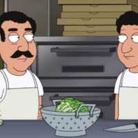 Family Guy Makes Fun of How Salad Is Made at Pizza Place